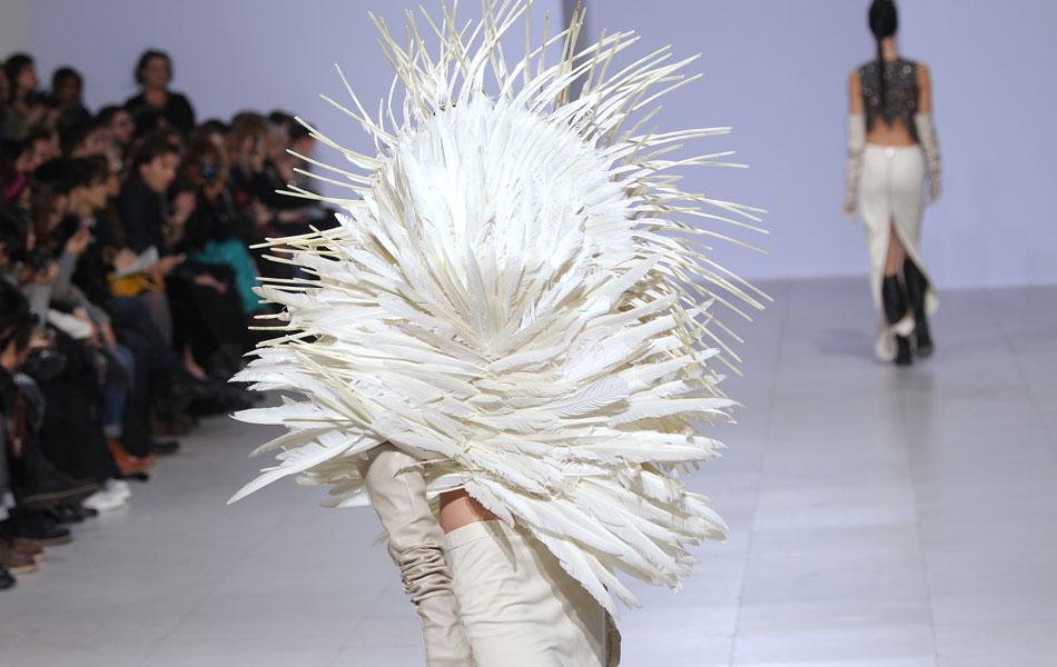 Peachoo Datwani, Dane Roy Krejberg, white, feather, fashion, couture, winter