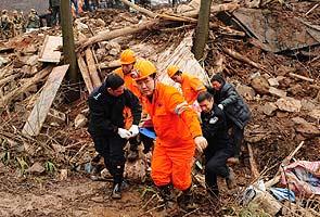 Gempa bumi punca tanah runtuh di China