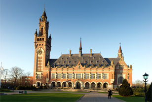 International Court of Justice in The Hague, Netherlands.