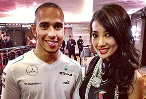 Lewis Hamilton and Chelsia Ng