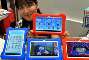 Tablets, smartphones steal scene at Tokyo toy show
