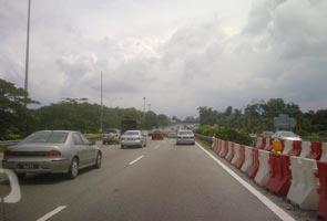 Trafik mula perlahan di Lebuhraya Utara-Selatan