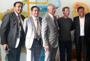 Najib had a private meeting with Mark Zuckerberg