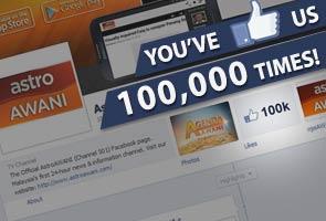 Terima kasih kerana anda 'menyukai' kami 100,000 kali!