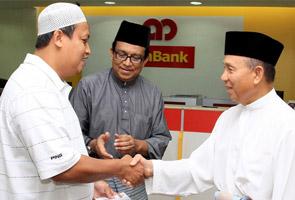 Majlis tahlil Allahyarham Norazita di premis bank