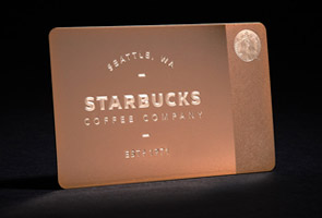 Starbucks releases metal 450 coffee cards for the holidays
