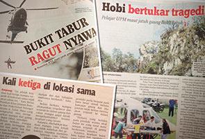 Senarai kes-kes kecelakaan lampau di Bukit Tabur