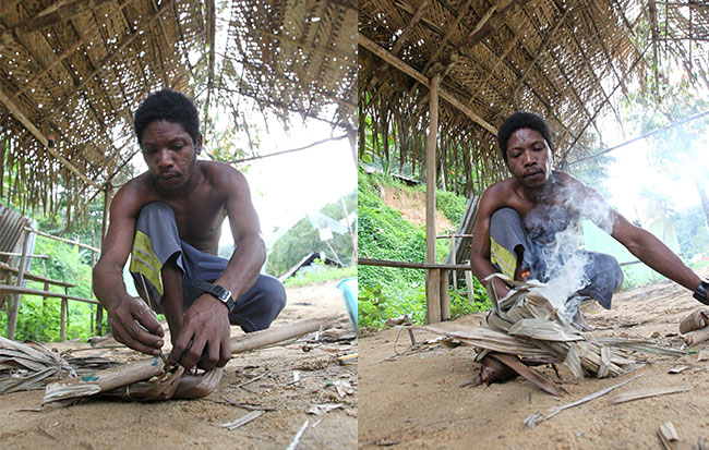 Orang asli Batek di Taman Negara