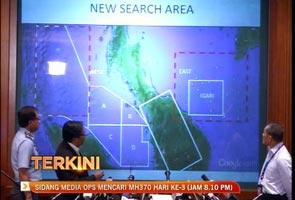 Hari ketiga: Kawasan mencari MH370 diperluas, termasuk daratan