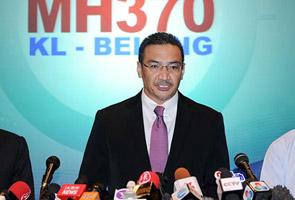 MH370: Pencarian pesawat hilang merentasi politik - Hishammuddin