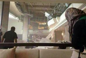 Siling hotel runtuh, tiada kemalangan jiwa dilaporkan