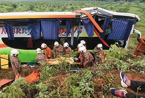 Seorang maut bas pelancong Singapura terjunam ke dalam gaung