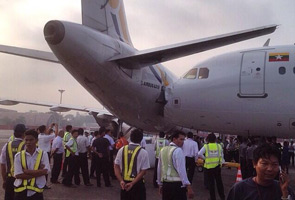 Two Airbus plane collide at Yangon airport