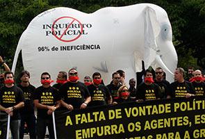 POLIS BRAZIL LANCAR MOGOK DI BANDAR PIALA DUNIA