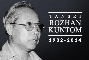 Tan Sri Rozhan Kuntom meninggal dunia