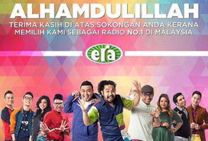 ERA fm still the number one radio station in Malaysia!