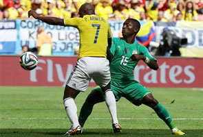COLOMBIA DEFEATS IVORY COAST 2-1