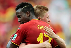 BELGIUM ADVANCES WITH LATE GOAL OVER RUSSIA