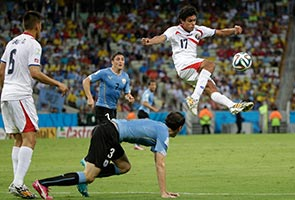 URUGUAY STUNNED BY COSTA RICA