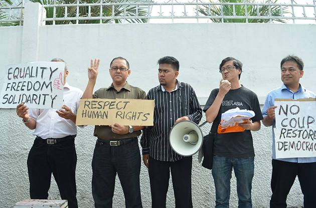protes, thai, thailand