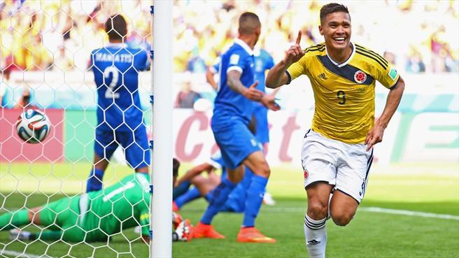 Kemenangan pertama Colombia setelah kembali ke Piala Dunia selepas 16 tahun