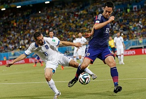 GREECE, JAPAN PLAY TO SCORELESS DRAW