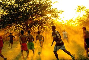 PHOTO EXHIBIT CAPTURES THE 'TRUE FOOTBALL' OF BRAZIL