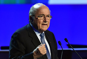 BLATTER IN FESTIVE MOOD AS HE KICKS OFF FIFA CONGRESS