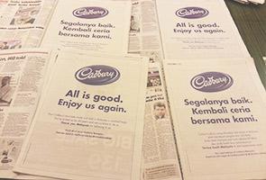Cadbury pikat pengguna dengan iklan halal dalam akhbar tempatan