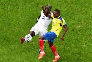 FRANCE FIRE BLANKS, ECUADOR ELIMINATED