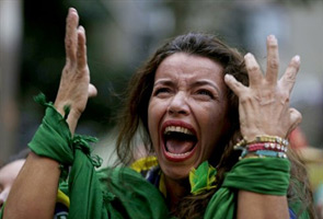 WORLD CUP: FANS JOIN IN GERMAN HUMILIATION OF BRAZIL