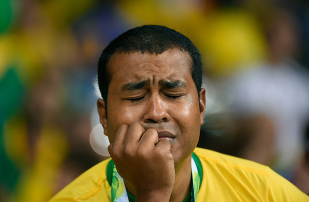 WORLD CUP SEMIFINAL: BRAZIL FANS REACT