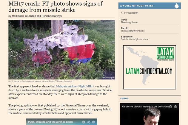 MH17, debris