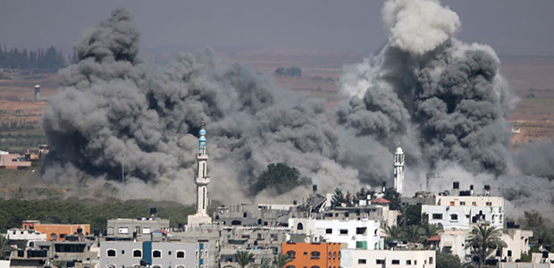 Smoke rises after an Israeli strike in Gaza City, northern Gaza Strip. - AP Photo/Majed Hamdan