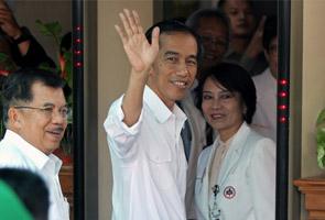 Jokowi menang dengan 53.15 peratus undi