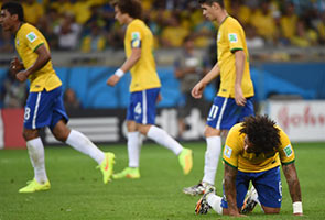 DISASTER FOR BRAZIL AS GERMANY RUN RIOT