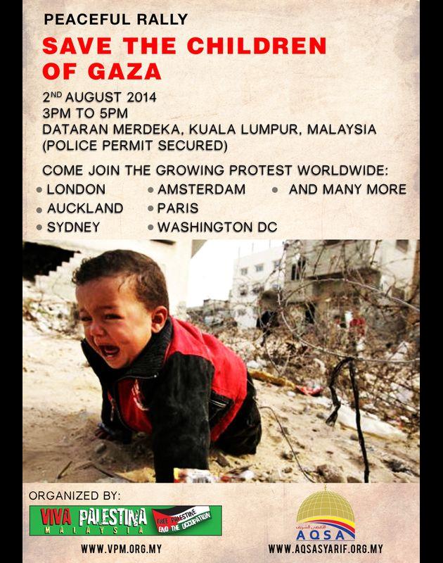Selamatkan Anak-anak Gaza