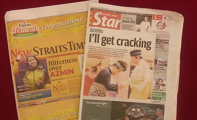 New Straits Times dan The Star