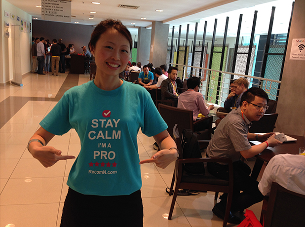 Jes Min, one of the 50 startup founders who participated at Investor-Startup Speed Dating.