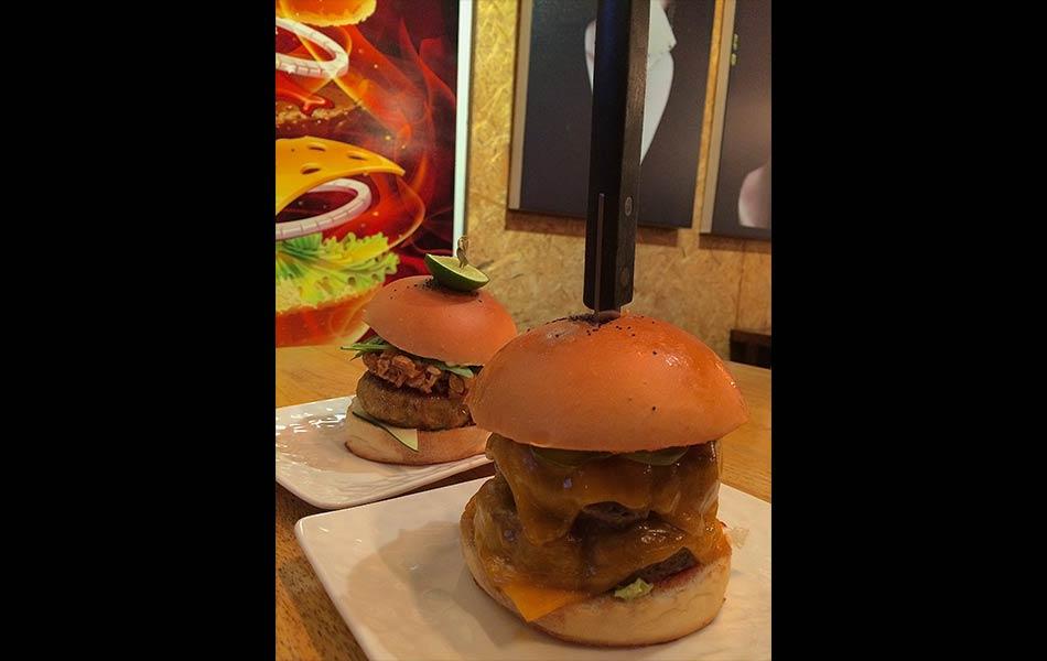 Homegrown burger