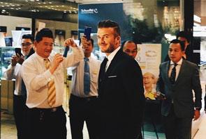 Kelibat David Beckham bikin gempar di pusat beli belah terkemuka Kuala Lumpur