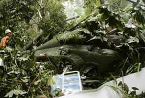 Imej helikopter Thailand terhempas semasa meninjau mangsa banjir,!