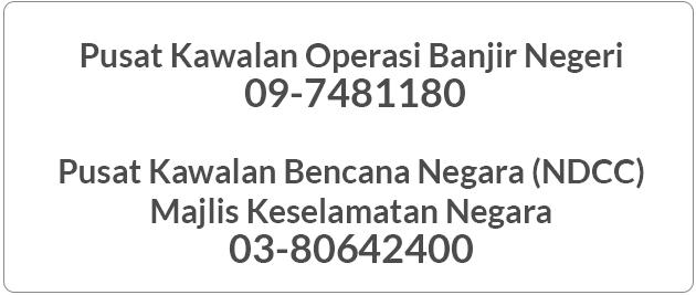 Untuk melaporkan kecemasan banjir atau bantuan boleh hubungi