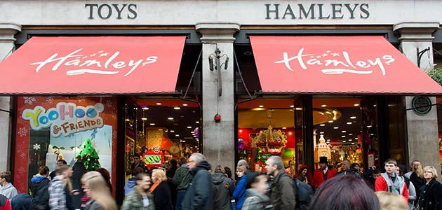 A Dec 22, 2012 filepic of a Hamleys store in London. - AFP Photo/Leon Neala