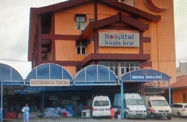 Sekitar Hospital Kuala Krai yang tidak ditenggelami air seperti yang didakwa