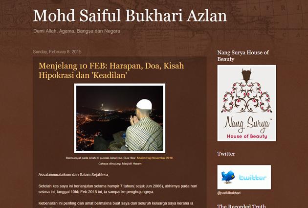 blog saiful bukhari