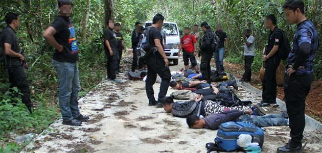 Some of the suspects being nabbed in Hulu Langat on Sunday