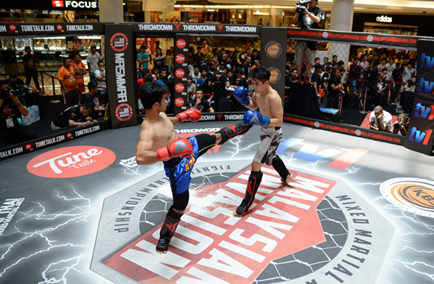 Sparring - which is one of the three stages a fighter has to go through at the MIMMA tryouts. - MIMMA photo