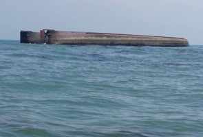 Maritime authority conducts SAR operations for capsized barge