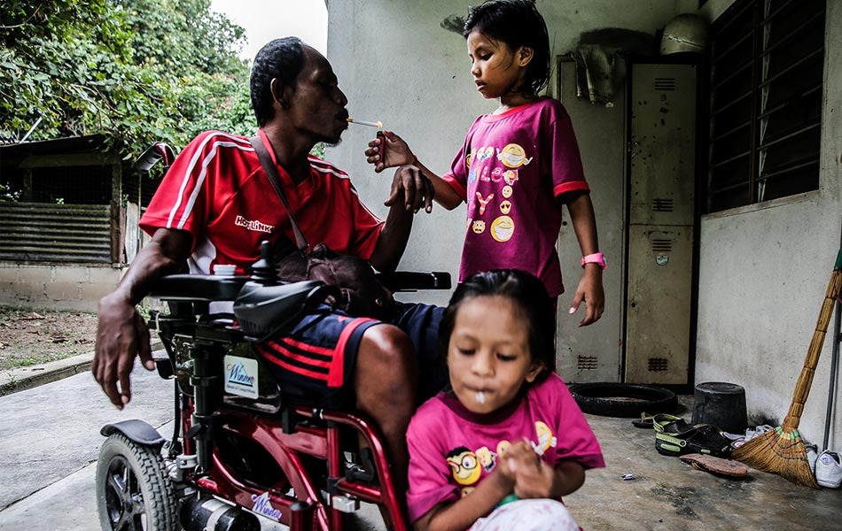 Paralyzed father, father's day